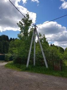 Строительство воздушных линий электропередач. Солнечногорский район.